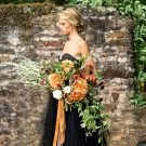 Fall Gothic Bridal Inspiration with a Black Gown