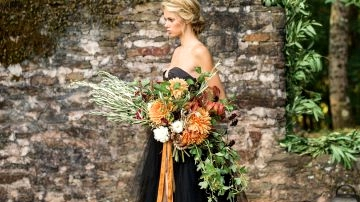 Fall Gothic Bridal Inspiration with a Black Robe