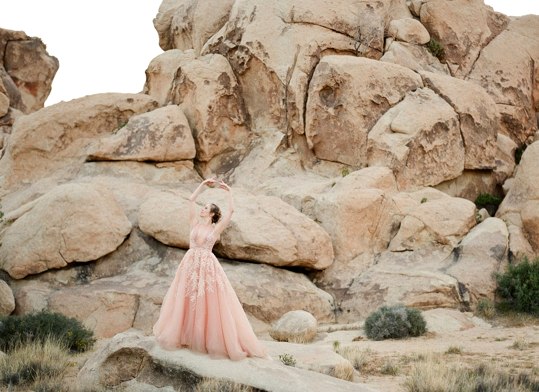 Pink Dress in the Desert