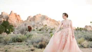 A Dreamy Pink Wedding ceremony Costume captured in Joshua Tree
