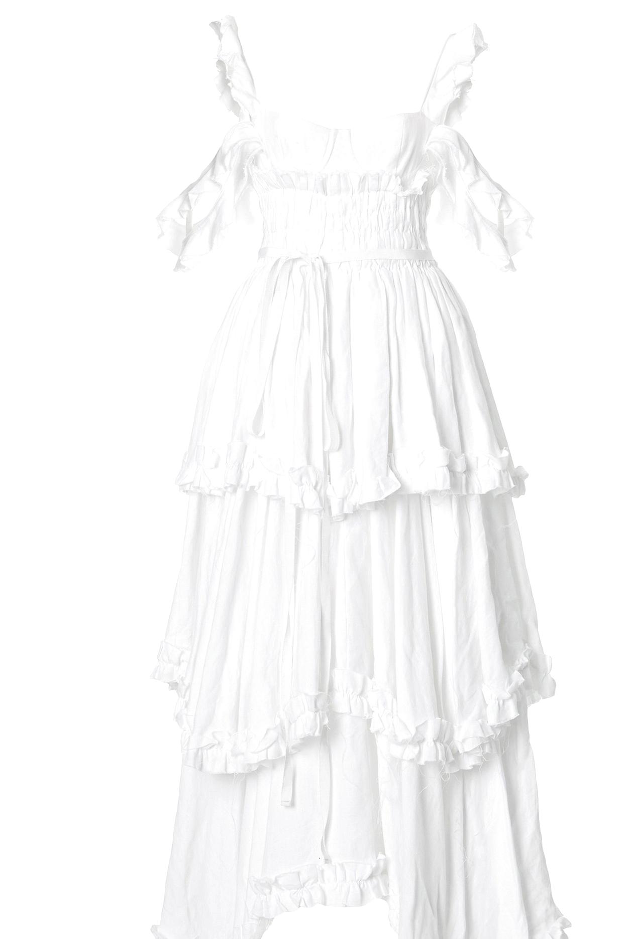 Regencycore white dress