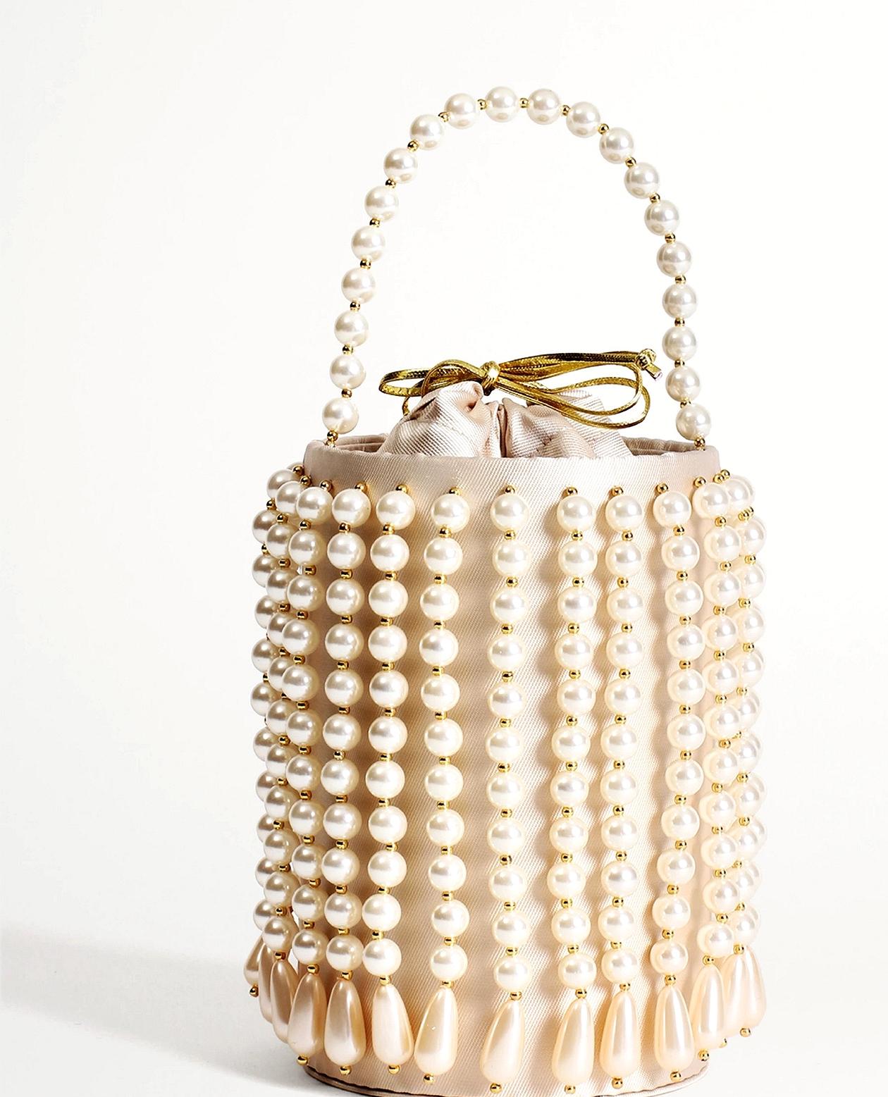 Bridgerton-Inspired Pearl Handbag