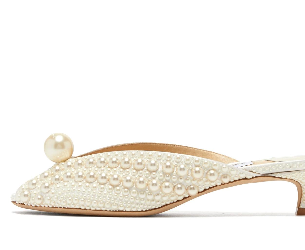 Bridgerton-Inspired Pearl Bridal Shoes