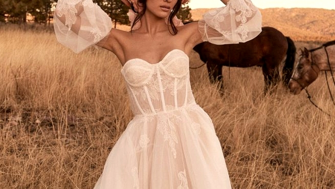 2021 Marriage ceremony Gown line by Tara Lauren: Western Meets Boho in Wild Reverie